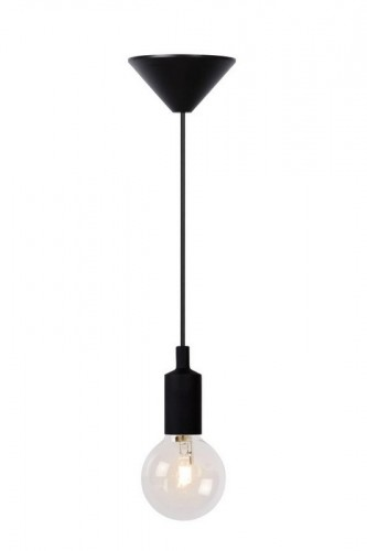 Hanging lamp FIXI ONE black cable E27