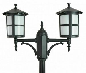 Adjustable 2-point garden lantern with white matte stained glass (180-280 cm) - Cordoba II OGMW2 TD small 1