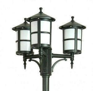 3-point garden lantern with matt white stained glass - Cordoba II OGMWN 3 TD small 1