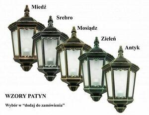 3-point garden lantern with matt white stained glass - Cordoba II OGMWN 3 TD small 6