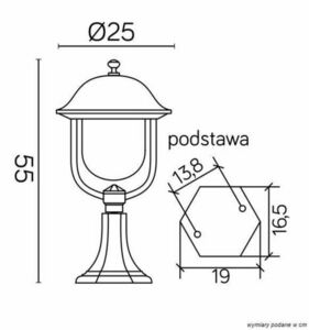 Small garden fixture (55cm) - Prince K 4011/1 / O small 6