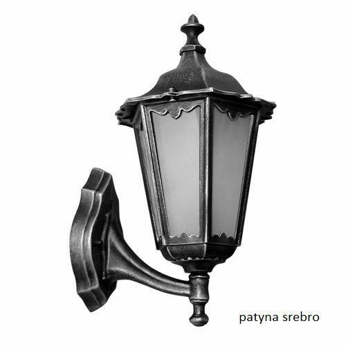 Classic Black Single Outdoor Retro Wall Lamp with Glass