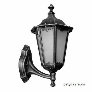 Classic Black Single Outdoor Retro Wall Lamp with Glass small 0