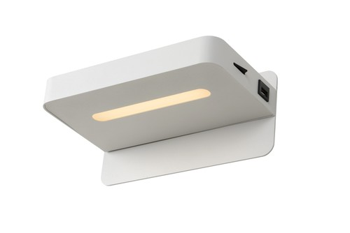 ATKIN wall light with a USB port for charging the phone