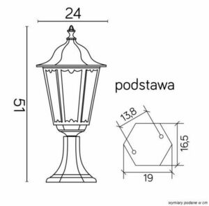 Retro Classic K 4011/1 Vintage standing lamp in black small 4