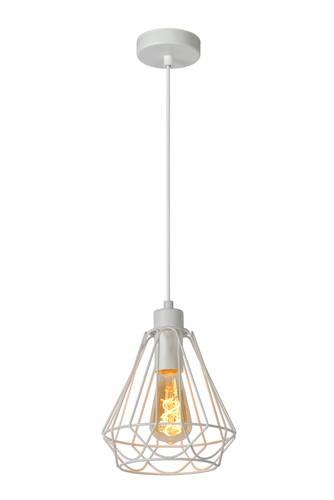 Vintage pendant lamp KYARA Ø 20 cm white