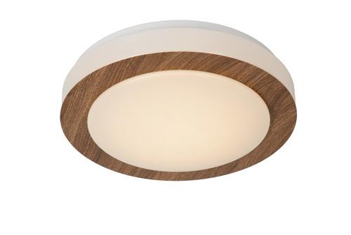 Dark Wooden Eyelet Ceiling DIMY LED 28.6 cm