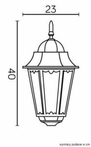 Garden lamp Retro Classic II K 1018 H small 5