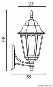 Stylish garden wall lamp Retro Classic II K 3012/1 / DH g small 5
