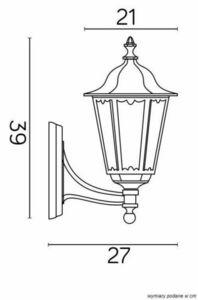 Garden wall lamp Retro Midi K 3012/1 / M g Vintage black small 3