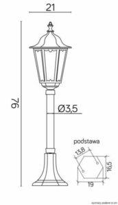 Standing garden lamp Retro Midi K 5002/3 M (76 cm) small 8