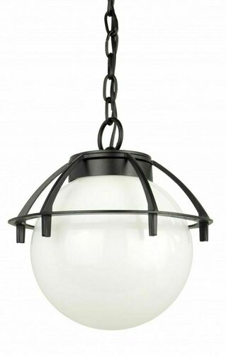 Outdoor pendant ball light with a basket 25cm