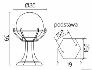 Lampa - ball with basket standing garden (39cm) - 200 K 4011/1 / KPO small 4
