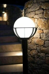 Lampa - ball with basket standing garden (43cm) - K 4011/1 / KPO 250 small 3