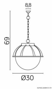 Outdoor pendant lamp Kule with a basket 250 K 1018/1 / KPO 250 small 5