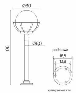 Lamp - globe with basket standing garden (90 cm) - K 5002/2 / KPO 250 small 7