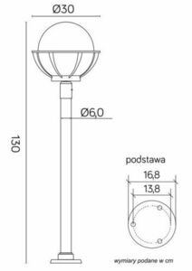Lamp - a basket with garden standing basket (130 cm) - K 5002/1 / KPO 250 small 6