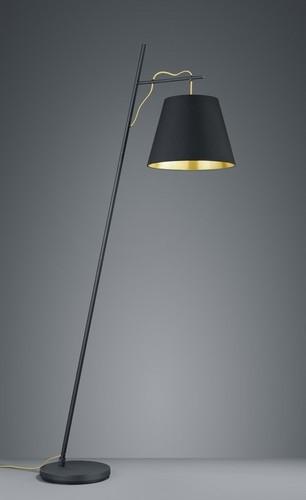 ANDREUS standing lamp, black / gold