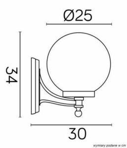 Outdoor wall lamp Kule Classic K 3012/1 / K 250 small 2