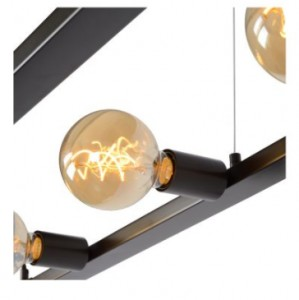 Hanging lamp five-point THUNDER iron E27 small 2