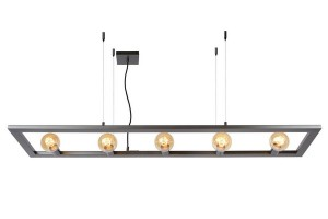 Hanging lamp five-point THUNDER iron E27 small 0