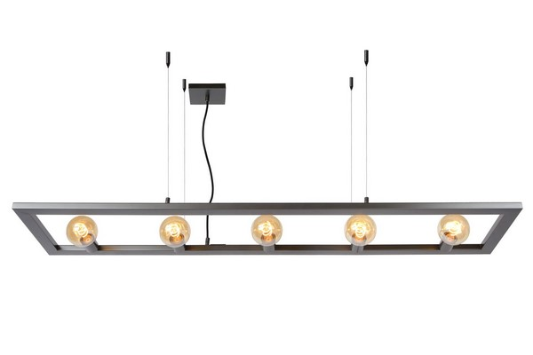 Hanging lamp five-point THUNDER iron E27