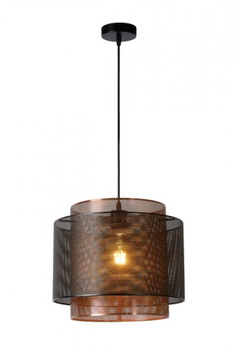 Hanging lamp ORIGIN black metal E27