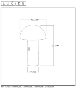 Table lamp FUNGUS white small 1