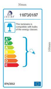 ZICO external wall lamp satin chrome 11874/01/12 small 3