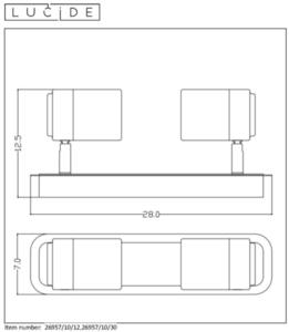 Plafond, spots LENNERT 26957/10/12 small 1