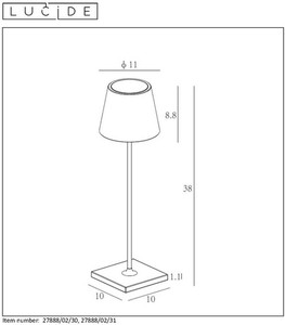 Outdoor lamp JUSTIN 27888/02/30 small 1