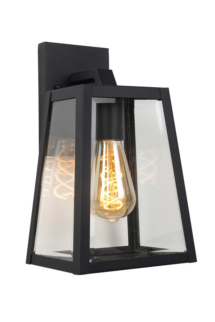 External wall lamp MARSLOT-B black aluminum E27