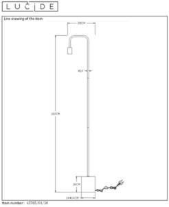 Floor standing lamp LORIN 45765/01/30 small 1