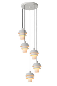 Hanging lamp, five-point EDEN white E27 small 0