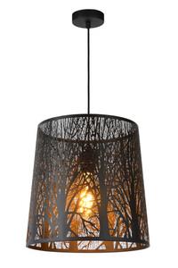 Hanging lamp GARELL black small 0