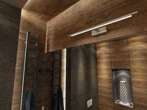 Isla white medium wall lamp with IP44 small 1