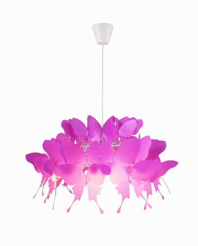 Hanging lamp for child Farfalla dark pink