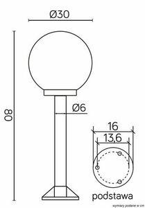 Outdoor standing lamp KULE (80 cm) - K 5002/3 / K 300 small 2