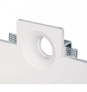 Ceiling fixture for drywall gypsum fixtur square small 2