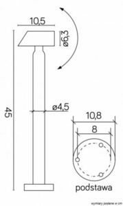 Standing Garden Lamp Sigma 1061-450 small 3