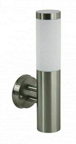 Inox external wall lamp stainless steel 33.6 cm