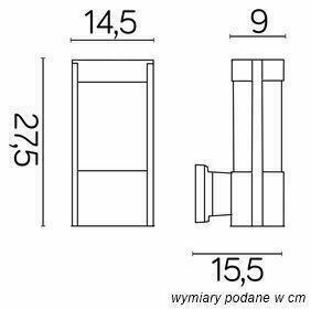 External wall lamp Elis TY 0651 BL small 1