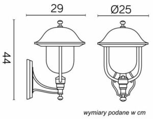 External wall lamp Prince K 3012/1 / O g small 5