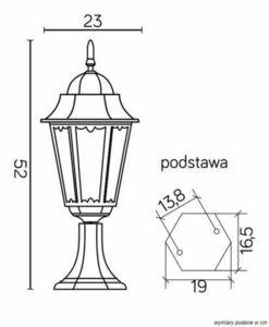 Standing garden lamp Retro Classic II K 4011/1 H small 7