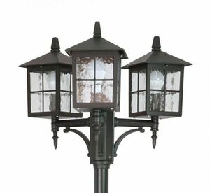 Adjustable 3-point stained glass lantern (165 cm - 260 cm) - Venice OGMWN 3 KW small 1