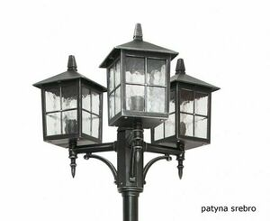 Adjustable 3-point stained glass lantern (165 cm - 260 cm) - Venice OGMWN 3 KW small 2