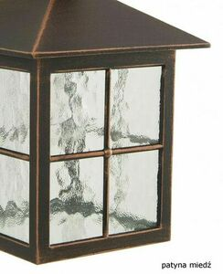 Adjustable 3-point stained glass lantern (165 cm - 260 cm) - Venice OGMWN 3 KW small 3