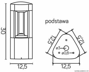 Lighting pole LED FAN GL 11201 LED dark gray small 2