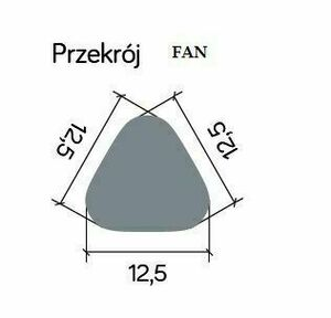 Lighting pole LED FAN GL 11204 dark gray 50 cm small 5