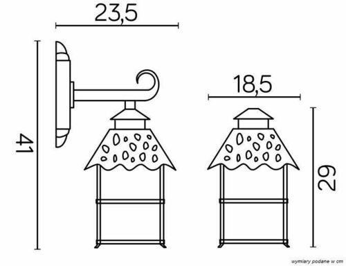 External wall sconce CADIZ K 3012/1 / Z